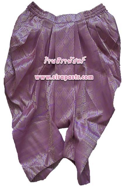 โจงกระเบน-ผ้าลายไทย สีม่วง (*มีเฉพาะ size-L และ XL) *รายละเอียดในหน้าสินค้า