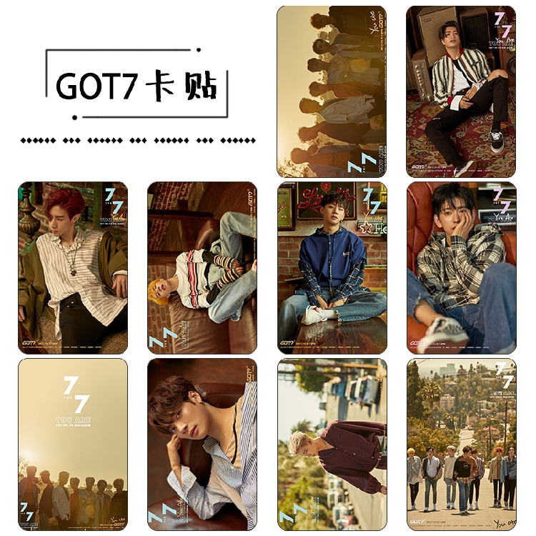 Sticker Card set GOT7 7 FOR 7 You Are [KT953]
