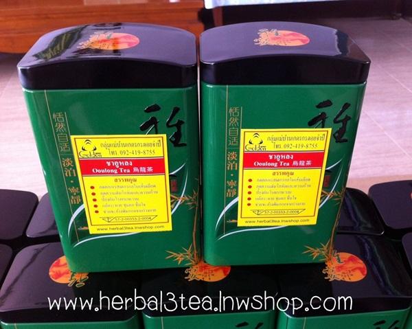 ชาอู่หลงชนิดซองชง บรรจุ 25 ซอง ใน กล่องเหล็กคะ