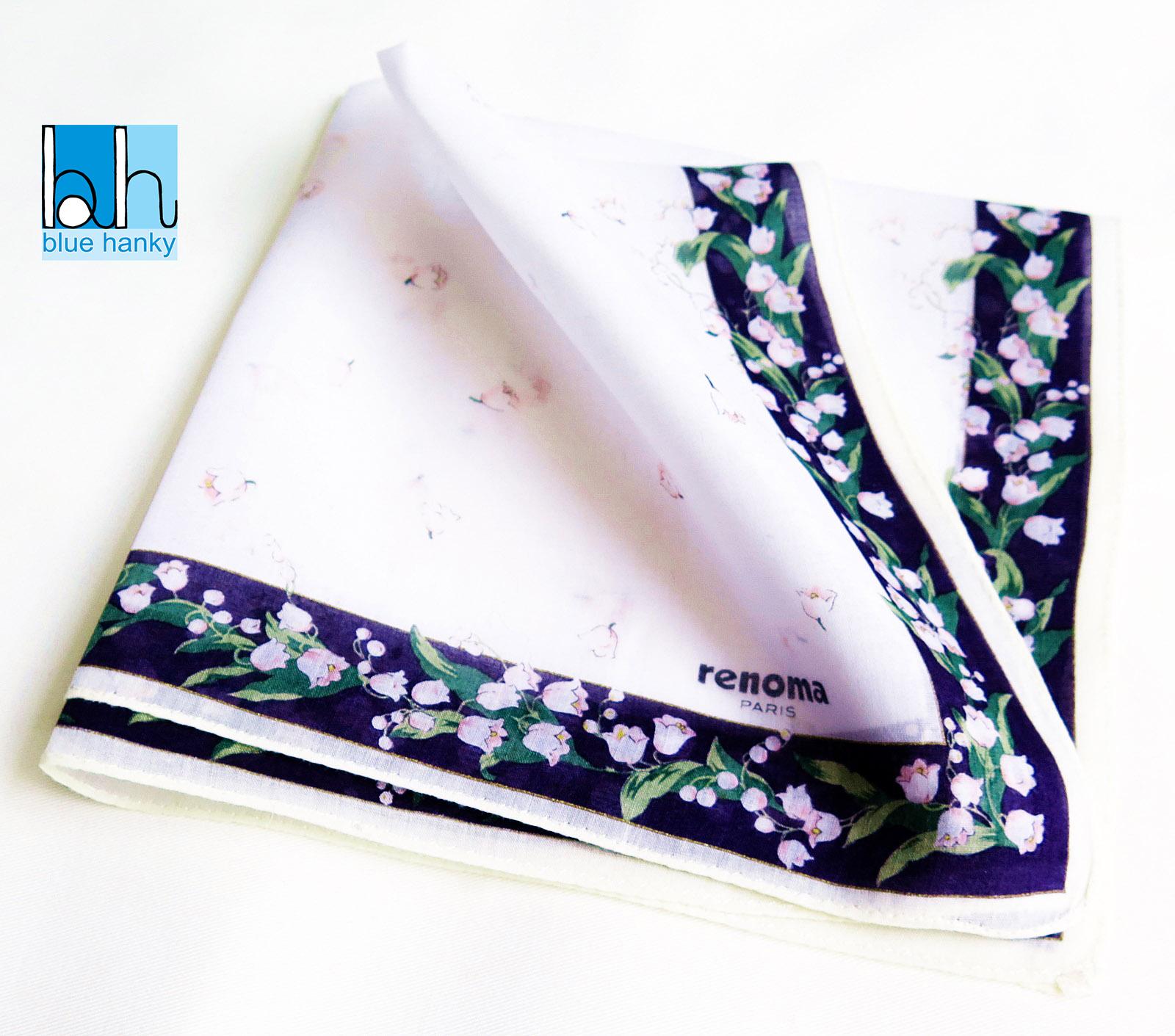 """#77 18"""" renoma PARIS ผ้าเช็ดหน้ามือ2 สภาพดี ผ้าเช็ดหน้าผืนใหญ่"""