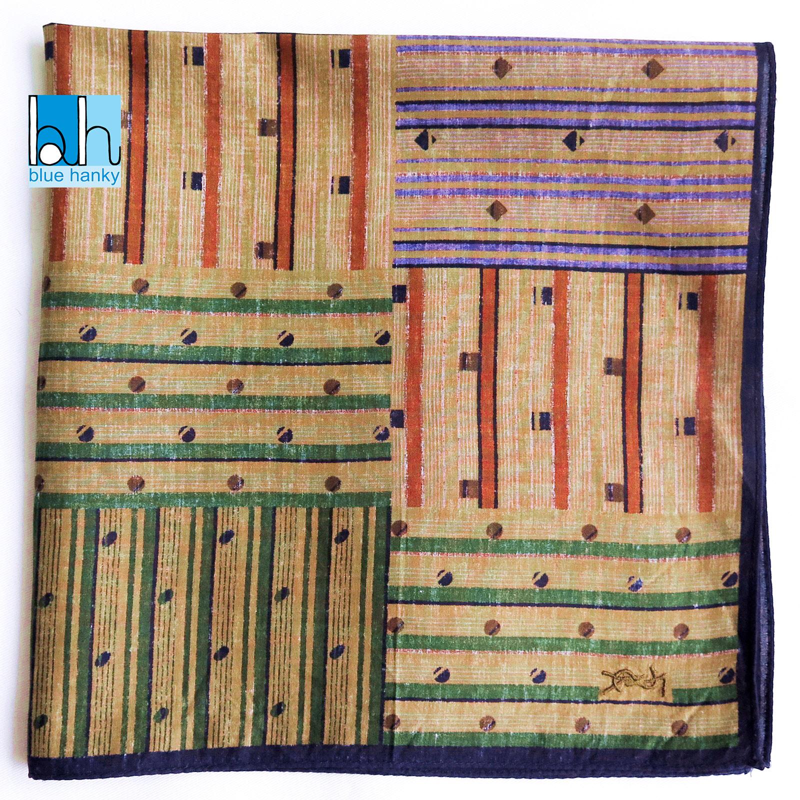 """#288 21"""" ญี่ปุ่น ผ้าเช็ดหน้ามือ2 สภาพดี ผ้าเช็ดหน้าผืนใหญ่"""