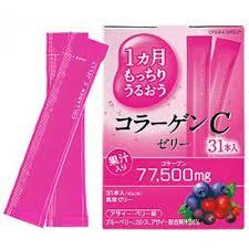 Otsuka Collagen C Jelly 77500 mg. คอลลาเจนเจลลี่จากญี่ปุ่น ผิวเด็กเด้ง ยืดหยุ่น 31ซอง อร่อยทานง่าย