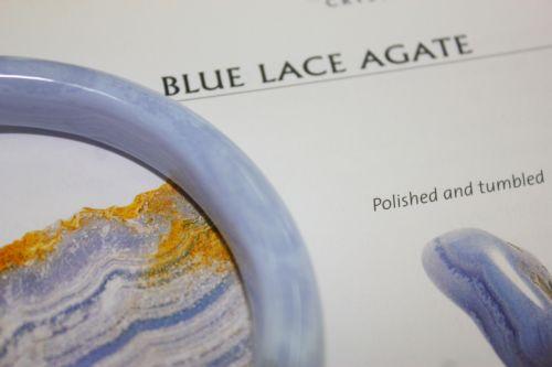 กำไลบูลเลซอาเกต ( Blue Lacc Agate )