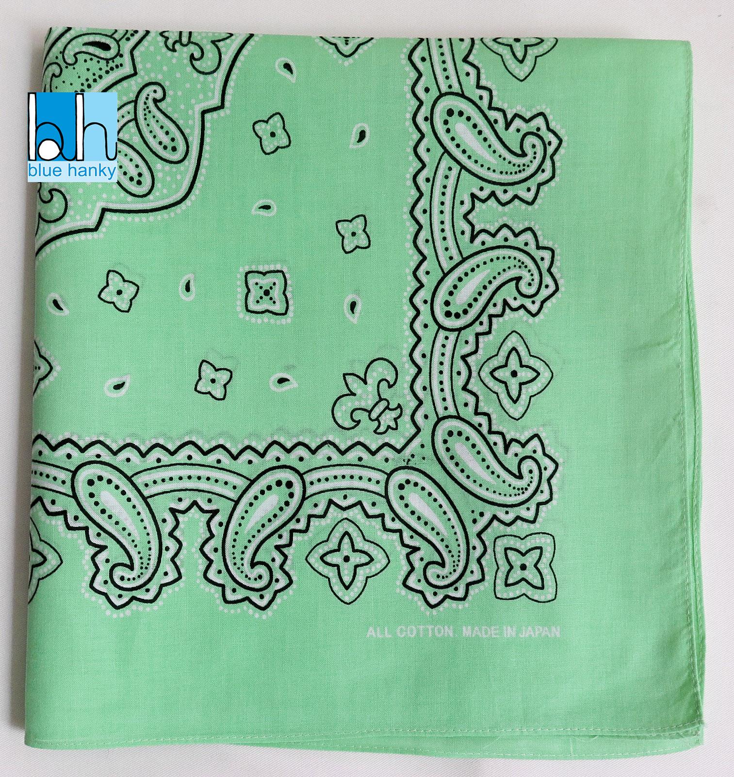 """#255 21"""" Paisley ญี่ปุ่น ผ้าเช็ดหน้ามือ2 สภาพดี ผ้าเช็ดหน้าผืนใหญ่"""