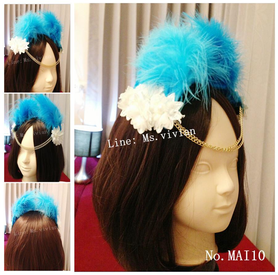 MAI10 มงกุฎขนฟู เเบบคาดหน้าผาก (งาน handmade)**สินค้ามีจำกัดในเเต่ละล๊อต**