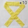 10ชิ้น ผ้าคาดหัว พันข้อมือ พันแขน 5*110ซม สีเหลือง