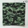 10 ผืน ผ้าพันคอ ผ้าโพกหัว ลายทหาร สีเขียว ผืนใหญ่