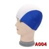 A004 หมวกว่ายน้ำ สีสันสดใส เนื้อผ้าโพลีเอสเตอร์อย่างดี สีฟ้าเข้ม