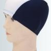 A002 หมวกว่ายน้ำ สีสันสดใส เนื้อผ้าโพลีเอสเตอร์อย่างดี สีน้ำเงิน(กรม)