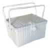 ตะกร้าสานพลาสติก กระเป๋าสานพลาสติก PNL-wh กว้าง 31 cm. ยาว 42 cm. สูง 23 cm.
