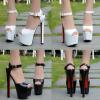 รองเท้าส้นสูง ไซต์ 34-38 สีดำ /ขาว