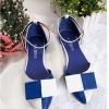 รองเท้า รัดส้นส้น สีน้ำเงิน ขาว สุดน่ารัก จากเกาหลี