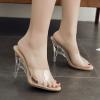 รองเท้าส้นสูงส้นแก้วแบบสวม ไซต์ 35-42