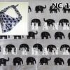 NC109 ผ้าพันคอลายช้าง ผืนใหญ่ใช้คาดหัว พันคอ