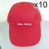 10ใบ สีแดง ฟรีไซส์ ราคาถูก หมวกกีฬาสี