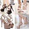 รองเท้าส้นสูง ไซต์ 35-40 สีดำ/ขาว/ครีม