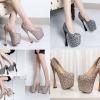 รองเท้าส้นสูง 7.6 นิ้วสีดำ/น้ำตาล ไซต์ 34-43