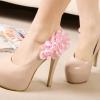 รองเท้าแฟชั่นประดับดอกไม้สวยหวาน