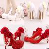 รองเท้าเจ้าสาว ไซต์ 34-39 สีขาว สีแดง ส้นสูง 7,8,10,12,14 ซม.