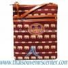 ของฝากจากไทย กระเป๋าสะพายลายช้างสายหนัง แบบ 28 สีน้ำตาล