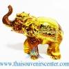 ของพรีเมี่ยม ของที่ระลึกไทย ช้าง แบบ 15 Size S สีทอง-น้ำตาล