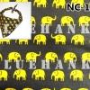 NC106 ผ้าพันคอลายช้าง ผืนใหญ่ใช้คาดหัว พันคอ