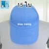 15ใบ สีฟ้า ฟรีไซส์ ราคาถูก หมวกกีฬาสี