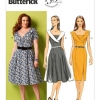 แพทเทิร์นตัดเดรสสตรี Butterick B5930 Size: 8-10-12-14-16 (อก 31.5-38 นิ้ว)