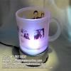 006 มิกซ์รูปและสกรีนแก้วใสวินเทจ มีแท่นวางหมุนโชว์