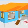 CD01 บ้านตัวอย่าง 11*6.5 เมตร 4 ห้องนอน 3 ห้องน้ำ 1 ห้องนั่งเล่น 1 ห้องครัว 768,000 บาท เพิ่มระเบียงหลังคาคลุม 2*4 ราคา 68,000 รวม 835,000 บาท