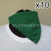 10ผืน สีเขียวเข้ม สี่เหลี่ยม53ซม ผ้าพันคอกีฬาสี ผ้าเช็ดหน้าผืนใหญ่