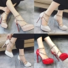 รองเท้าส้นสูง ไซต์ 34-39 สีแดง สีขาว สีครีม สีเทาควันบุหรี่