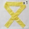ผ้าคาดหัว พันข้อมือ พันแขน 5*110ซม สีเหลือง
