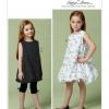 แพทเทิร์นตัดชุดเดรส เสื้อ และกางเกงเด็กหญิง Vogue 9261 size: 2-3-4-5 ขวบ