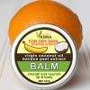 ลิปบาล์มชนิดแบบตลับ มีส่วนผสมของน้ำมันมะพร้าวสกัดเย็น ผสมสารสกัดจากเปลือกกล้วย ผสมน้ำมันเปลือกส้ม กลิ่นส้มอ่อน ๆ สำหรับริมฝีปากและผิวด้าน ข้อศอก ส้นเท้า ขาหนีบ ก้นด้าน ขนาด 10 กรัม กลิ่นส้มสดชื่น -- lip&body balm coconut oil (Orange scent)