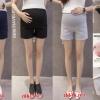 c6614 กางเกงคนท้อง สีกรม ขาสั้น มีซัพพลอตท้องค่ะ ปรับเอวได้
