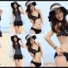 Happy Summer 014 สีดำลายจุดขาว ไซส์ L XL