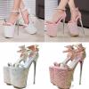 รองเท้าส้นสูง ไซต์ 34-40 สีเงิน สีชมพู