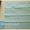 ผ้าเช็ดหน้าสีพื้น สีฟ้า