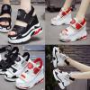 รองเท้าส้นเตารีดเดินง่ายคล้ายผ้าใบสีขาว/ดำ/แดง ไซต์ 34-39