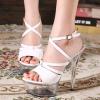 รองเท้าส้นแก้วสีขาว ไซต์ 34-40
