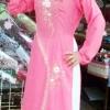 ชุดเวียดนามหญิง ลายดอกโบตั๋น (ส่งฟรี EMS)