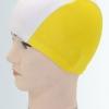 A001 หมวกว่ายน้ำ สีสันสดใส เนื้อผ้าโพลีเอสเตอร์อย่างดี สีเหลือง