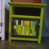 ตู้ใส่ของเตี้ย สีเขียว