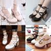 รองเท้าคัดชูน่ารักๆสีชมพู/ขาว/ดำ ไซต์ 34-43