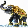 ของพรีเมี่ยม ของที่ระลึกไทย ช้าง แบบ 2 Size M สีดำทอง
