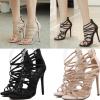 รองเท้าส้นสูง ไซต์ 35-40 สีดำ/แอพพริคอท