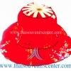หมวกพัด ไอเดียของที่ระลึก แบบ 11 สีแดง