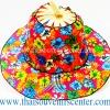 หมวกพัด ไอเดียของที่ระลึก แบบ 17 สีรุ้งลายดอก
