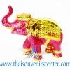 ของพรีเมี่ยม ของที่ระลึกไทย ช้าง แบบ 9 Size S สีชมพูทอง